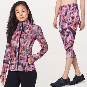 Lululemon define jacket & on pace crop leggings